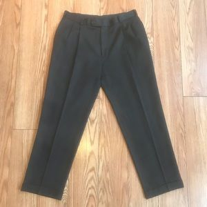 Brooks Brothers Wool Cuffed Pleated Dress Pants